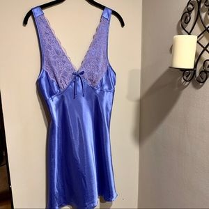 Satin and lace lingerie nightgown